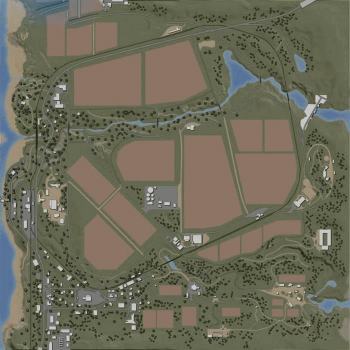 Карта RAVENPORT (AMERICAN MAP) FOR EDIT V1.0 для Farming Simulator 2019