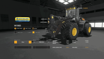 Погрузчик New Holland W190D Wheel Loader v 1.0.0.4 для Farming Simulator 2019