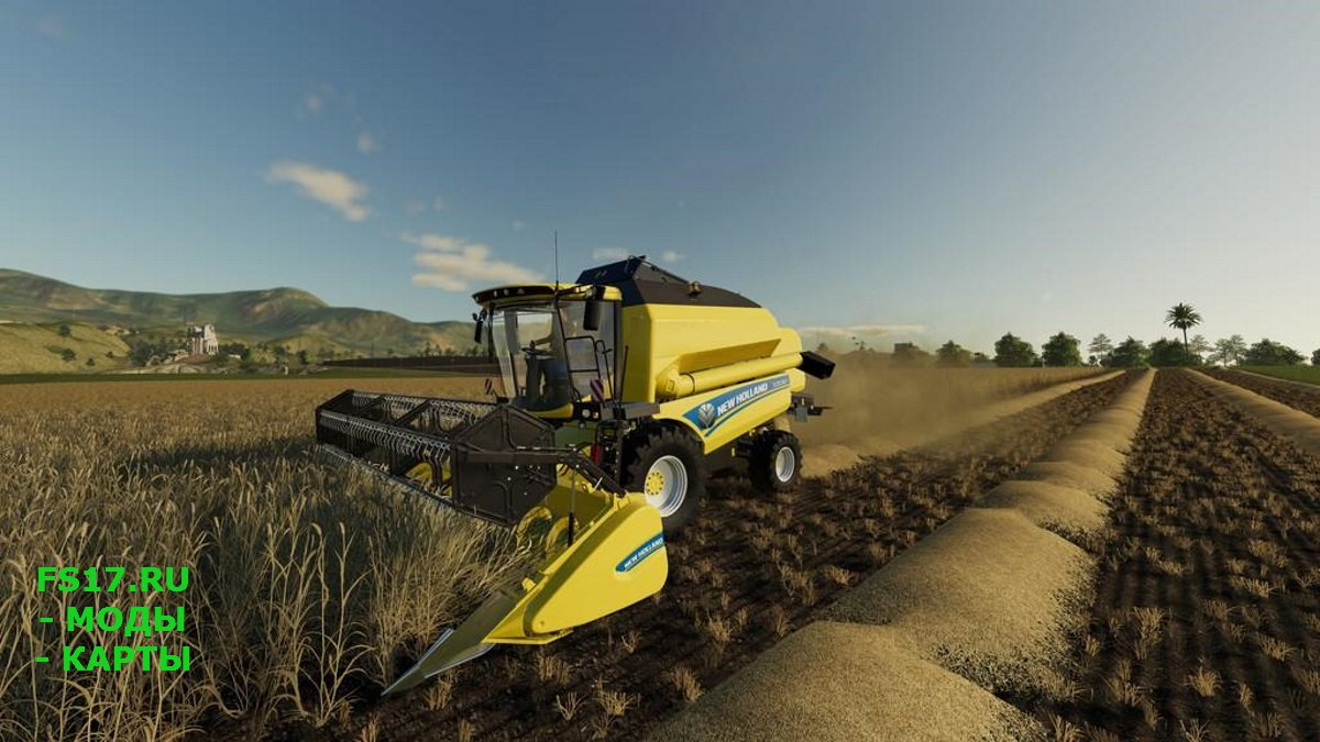 Комбайн NEW HOLLAND TC5.90 V1.0.0.0 для Farming Simulator 2019