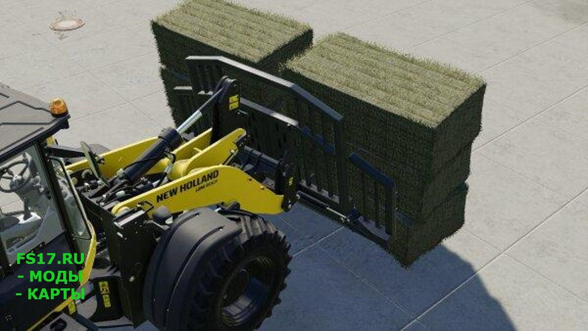 Вилы BALE FORK FOR WHEEL LOADER V1.0.0.0 для Farming Simulator 2019
