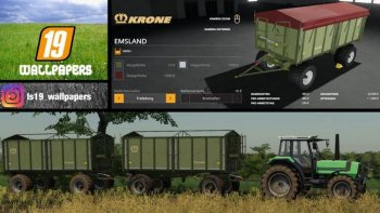 Прицеп KRONE EMSLAND KIPPER V1.0.0.0 для Farming Simulator 2019