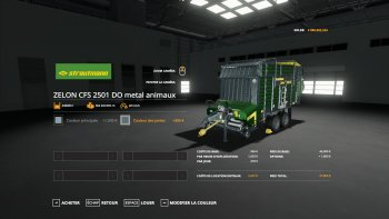 Прицеп подборщик STRAUTMANN ZELONCFS2501DO V1.0 для Farming Simulator 2019