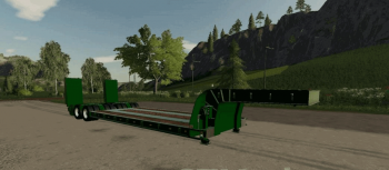 Трал 16 WHEELS LOW DECK TRAILER V1.0.0.0 для Farming Simulator 2019