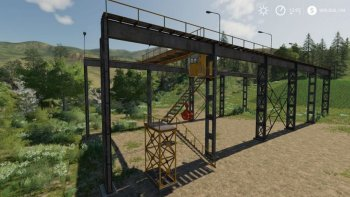 Кран Working Rail Crane v 1.2 FIXED для Farming Simulator 2019