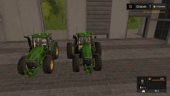 Трактор JOHN DEERE 7720 ANIMATION PARTS V1.1 для Farming Simulator 2017