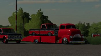 Пак автомобилей 48 CHEVY RAMP TRUCK AND 71 CHEVY C10 V1.0 для Farming Simulator 2019