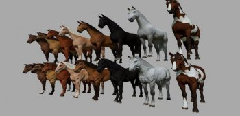 Объект GE DECORATIVE HORSES FOR GE V1.0.0.0 для Farming Simulator 2019