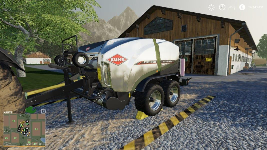 Тюкопресс MP FA KUHN FBP3135 V1.0.0.0 для Farming Simulator 2019