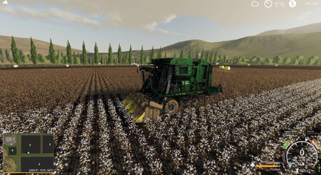 Хлопкоуборочный комбайн JOHN DEERE 7760 COTTON BALER V1.1.0.0 для Farming Simulator 2019
