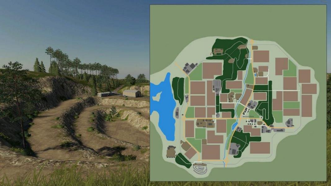 Карта NEW WOODSHIRE EDIT V2.0 для Farming Simulator 2019