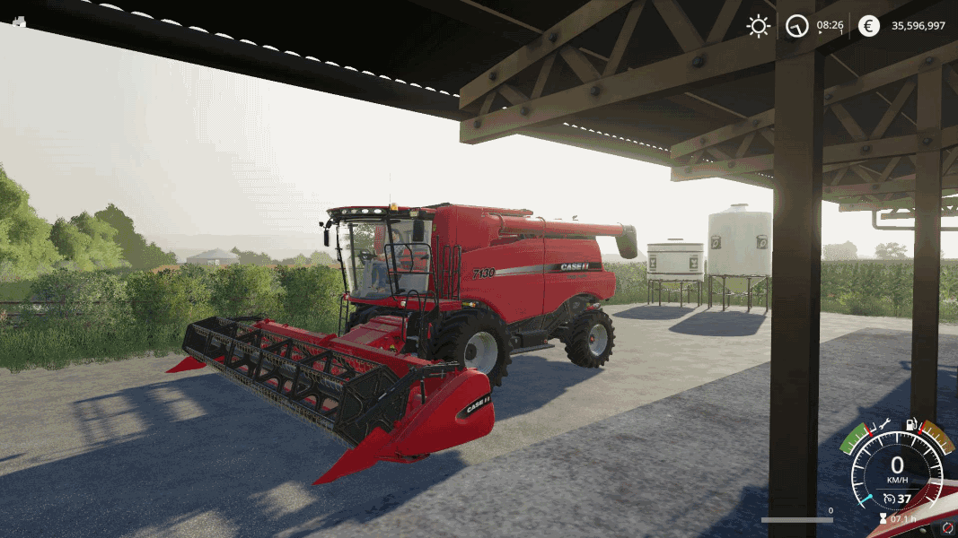 Комбайн CASE IH 7130 + CUTTER V0.9 для Farming Simulator 2019
