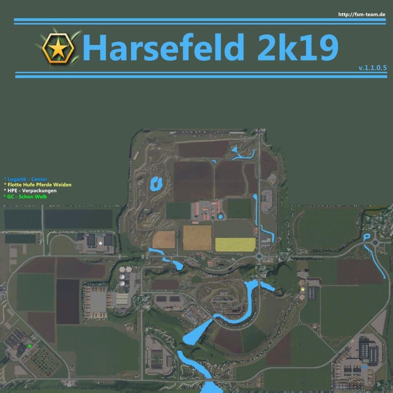 Карта HARSEFELD 2K19 V1.1.0.5.0 для Farming Simulator 2019
