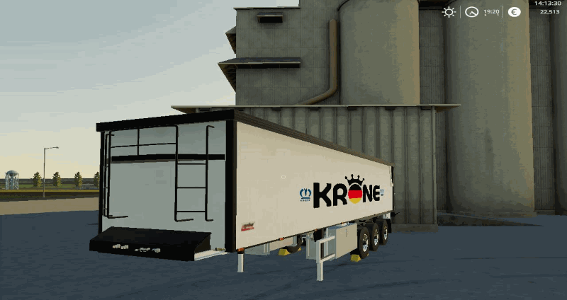 Полуприцеп KRONE TRAILER BY BOB51160 V1.0.0.1 для Farming Simulator 2019