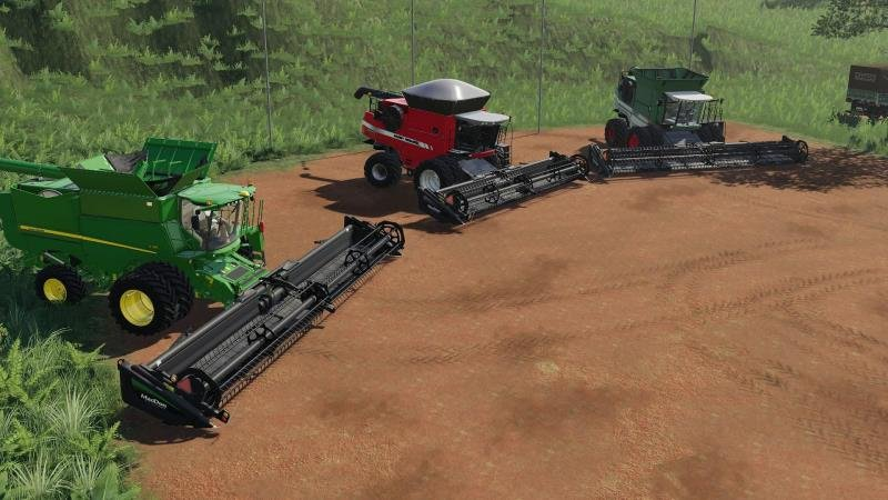 Пак жаток MACDON FD75 - 35, 40, 45 PES V1.0 для Farming Simulator 2019