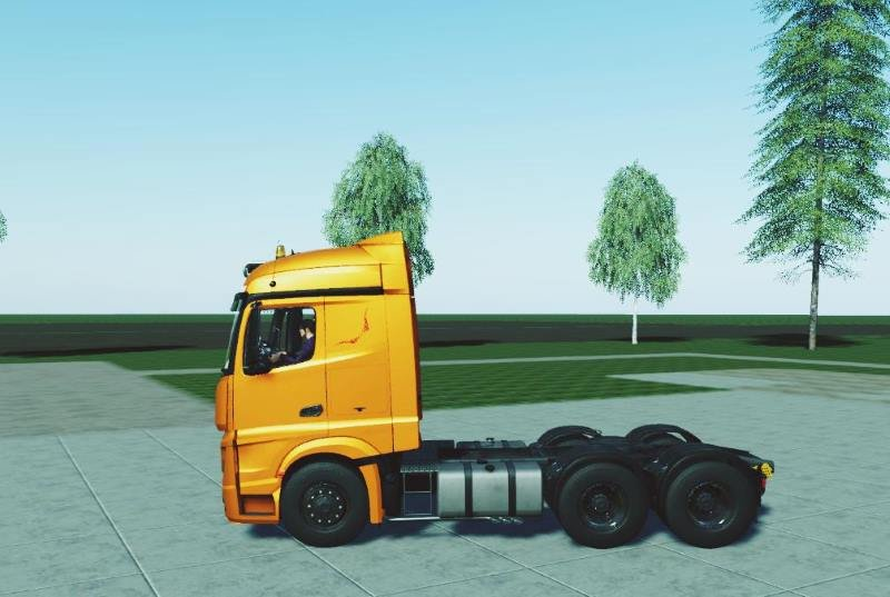 Тягач MERCEDES ACTROS MP4 FS19 V1.0.0.1 для Farming Simulator 2019