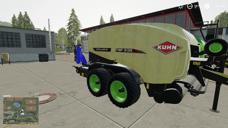 Тюкопресс KUHN FBP 3135 V1.1.0.0 для Farming Simulator 2019