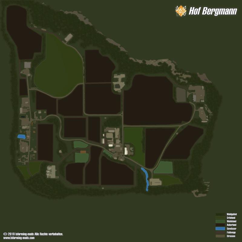 Карта HOF BERGMANN MAP V1.0.0.4 для Farming Simulator 2019