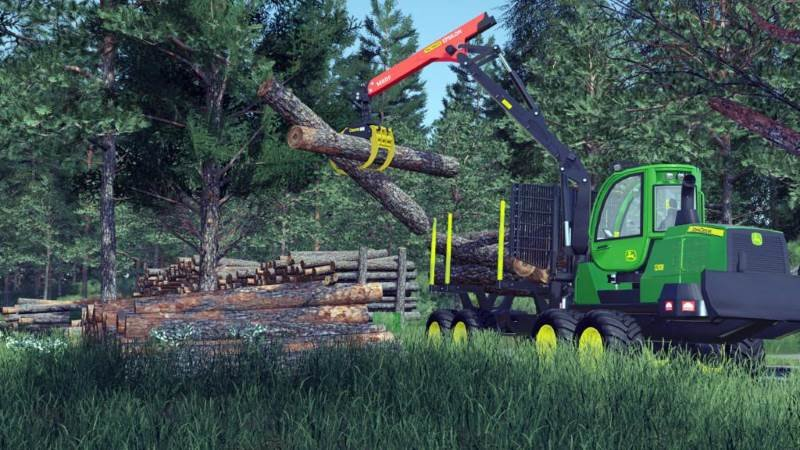 Форвардер JOHN DEERE 1210G V1.0.0.0 для Farming Simulator 2019