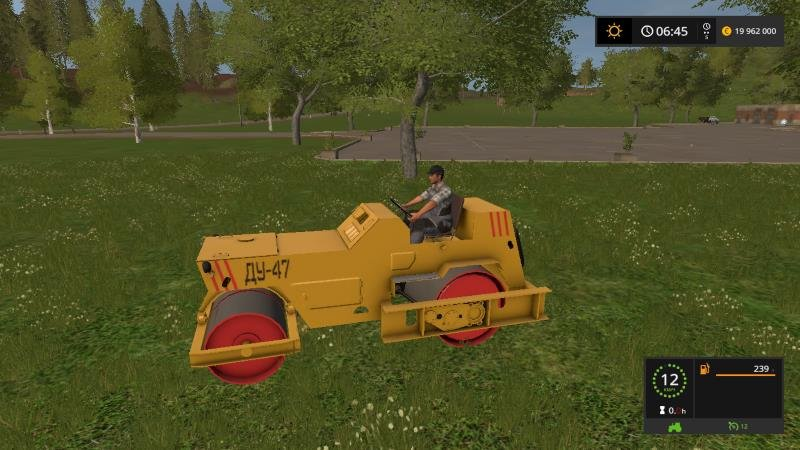 Каток ДУ-47 v 1.0 для Farming Simulator 2017