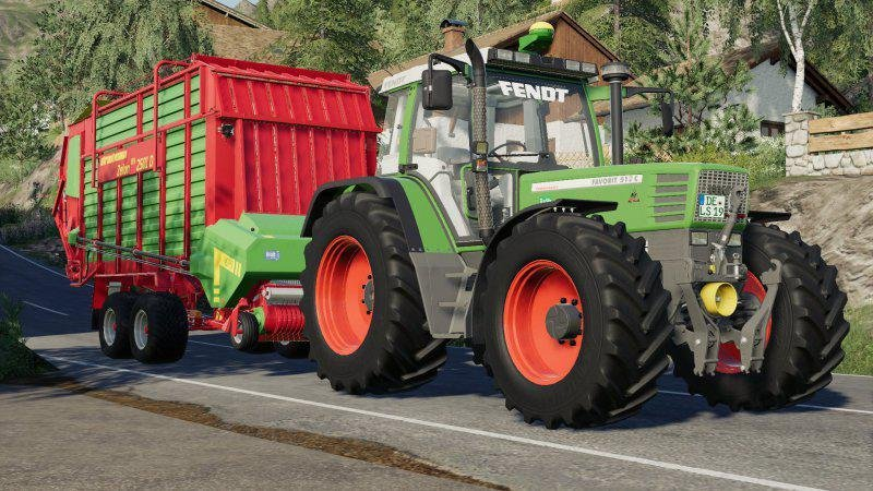 Трактор FENDT 500 FAVORIT V1.0.0.0 для Farming Simulator 2019