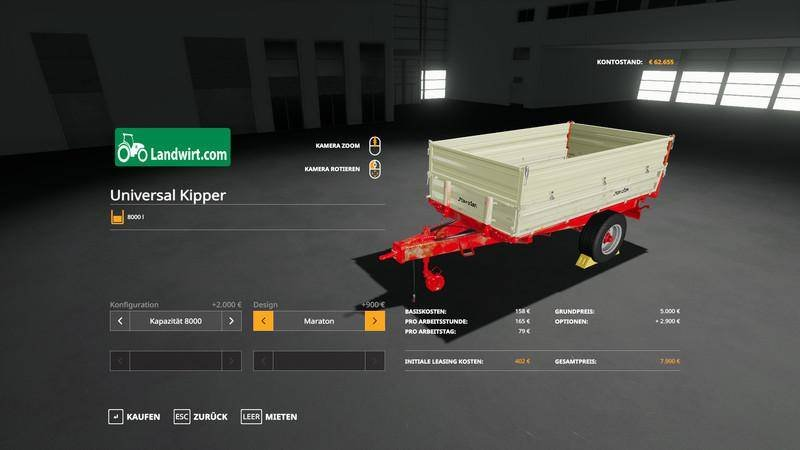 Пак прицепов TRAILER PACK UNIVERSAL 1 ACHS KIPPER V1.1 ля Farming Simulator 2019