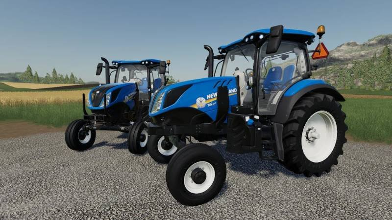 Трактор NEW HOLLAND T6 - 2WD V1.0.0.0 для Farming Simulator 2019