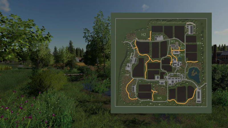 Карта OBERKREBACH MAP V1.0.0.2 для Farming Simulator 2019
