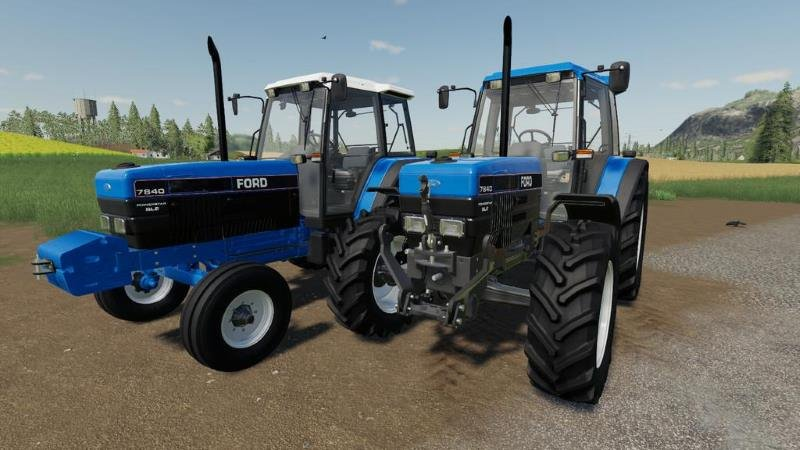 Пак тракторов FORD 40 SERIES PACK V1.1.0.0 для Farming Simulator 2019