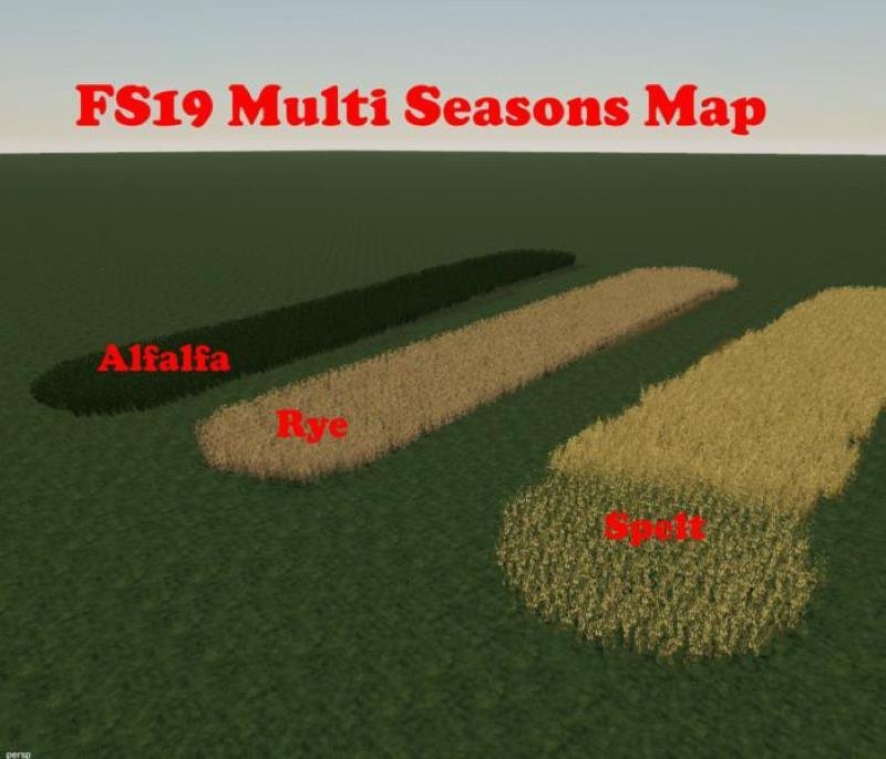 Пустая карта MULTI SEASONS MAP V1.0 для Farming Simulator 2019