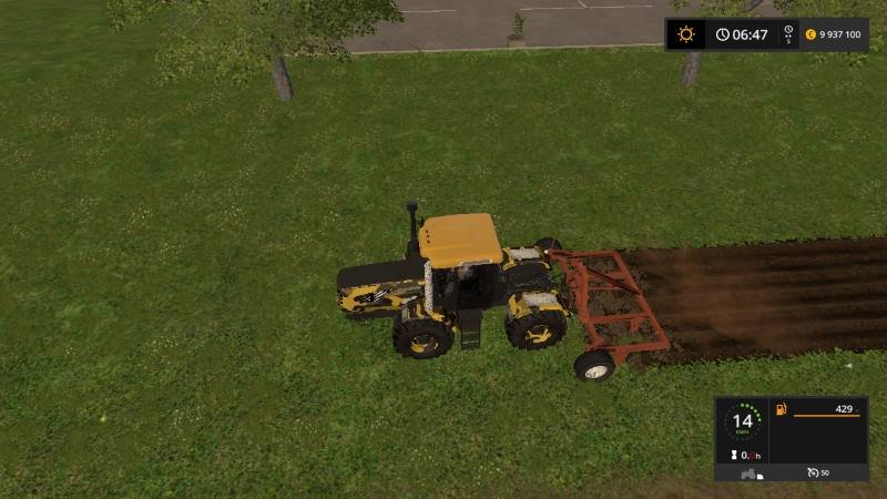 Плуг КПШ 5 v 1.0 для Farming Simulator 2017