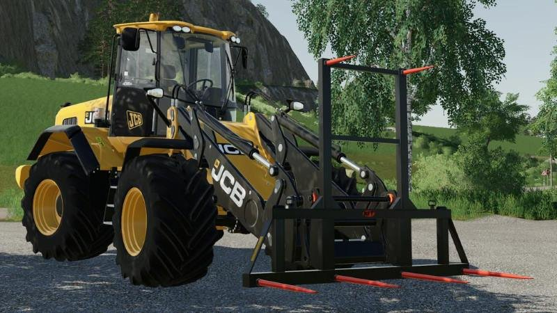 Вилы для тюков WHEEL LOADER BALE FORK V1.0.0.0 для Farming Simulator 2019